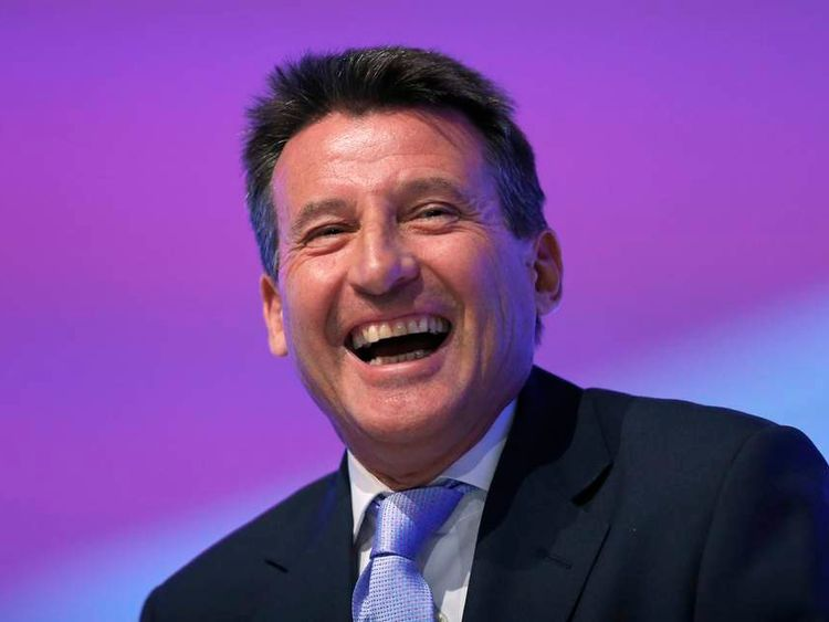 Sebastian Coe, Chairman of the London Organising Committee of the London 2012 Olympic Games, stands on stage during a segment about the Olympic's at the Labour Party annual conference in Manchester