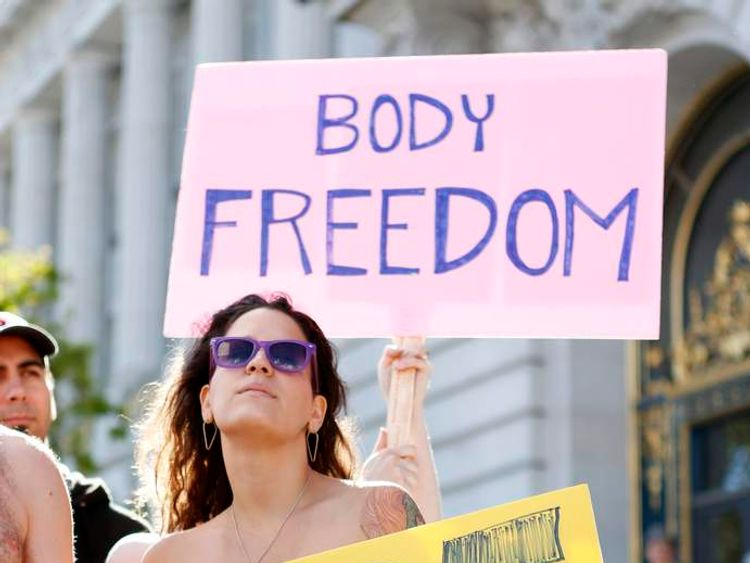 Nudism protester San Francisco