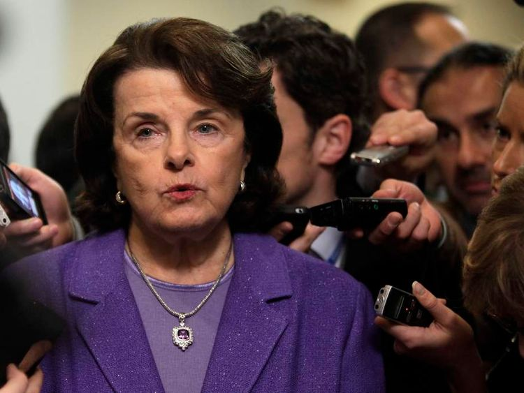 Senator Dianne Feinstein calling for tightened gun control after Connecticut shooting