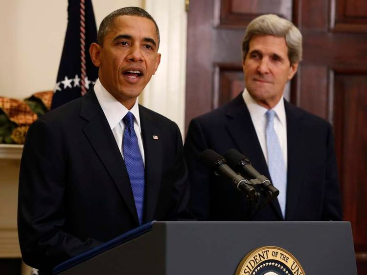 US President Barack Obama and Senator John Kerry