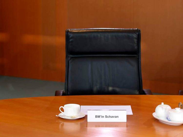 Annette Schavan's empty seat