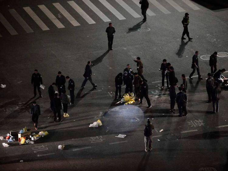 Chinese terror attack.