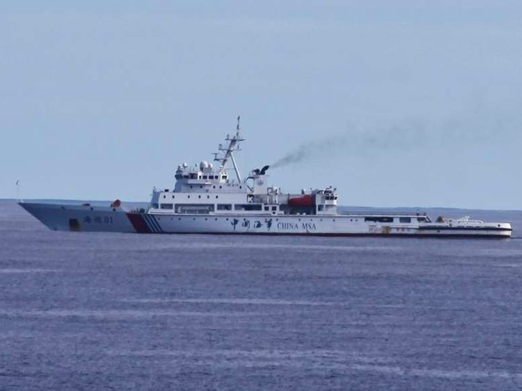 Chinese patrol ship Haixun 01.