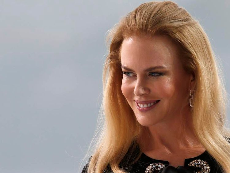 Actress Nicole Kidman is seen at the Grand Journal de Canal+ television studio on the Croisette on the eve of the opening of the 67th Cannes Film Festival in Cannes