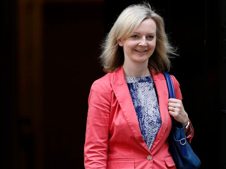 Britain's new Secretary of State for Environment Food and Rural Affairs Liz Truss leaves 10 Downing Street