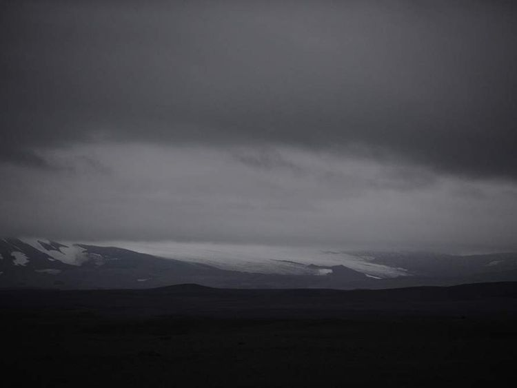 A general view of the Bardarbunga volcano in the north-west region of the Vatnajokull glacier.