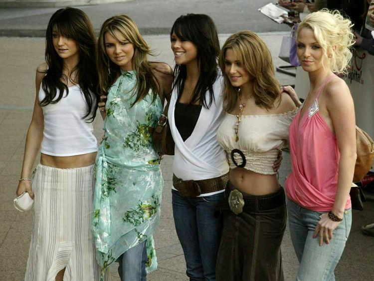 The members of pop group Girls Aloud in 2005