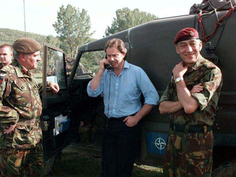 Tony Blair in Kosovo in 1999