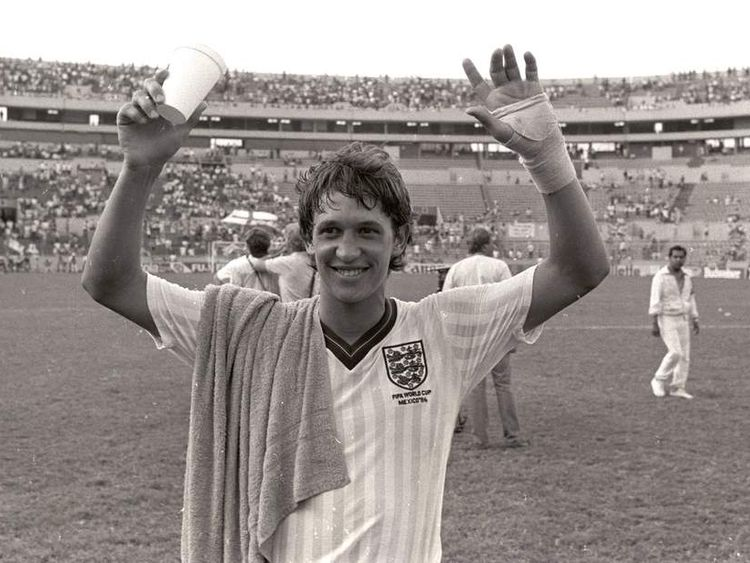 Gary Lineker Celebrates After Poland Win In Mexico World Cup