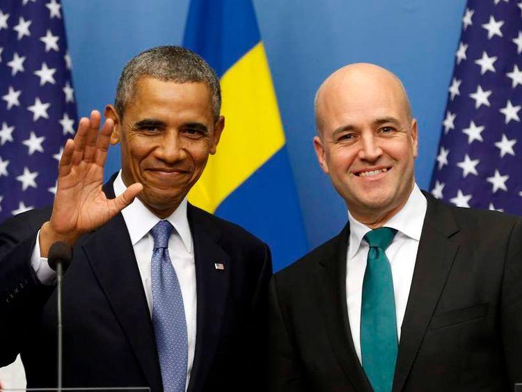 US President Barack Obama and Swedish Prime Minister Fredrik Reinfeldt