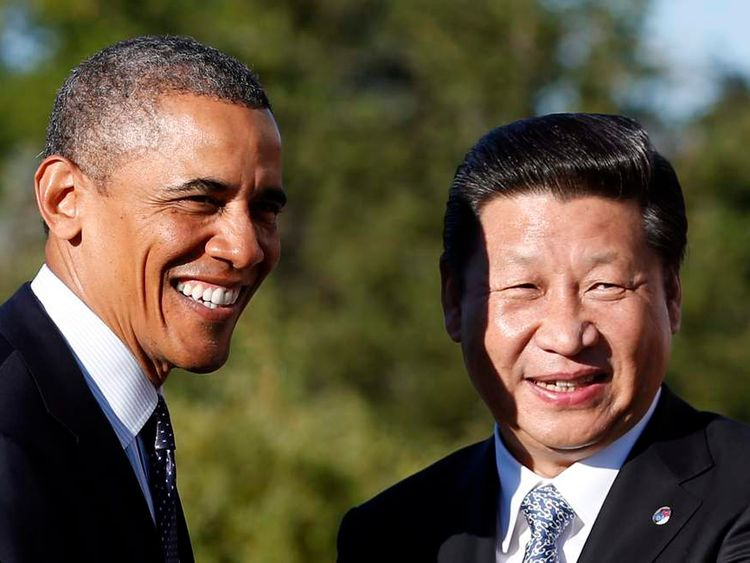 US and China presidents Barack Obama and Xi Jinping