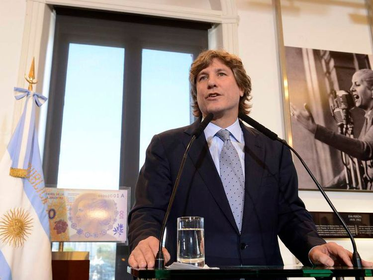 Vice President Amado Boudou attends a meeting at the Casa Rosada government house in Buenos Aires