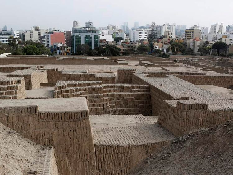 Huaca Pucllana ceremonial complex in Lima.