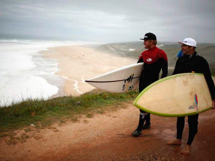 British surfer Andrew Cotton.