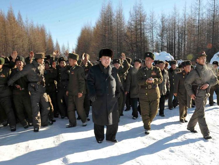 North Korean leader Kim Jong Un visits the 991 Unit of the KPA Air and Anti-Air Force