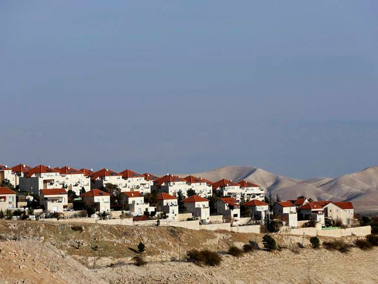 Houses are seen in the West Bank Jewish settlement of Maale Adumim near Jerusalem