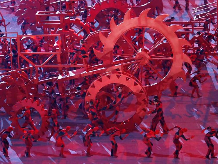 The opening ceremony of the Winter Olympics in Sochi, Russia