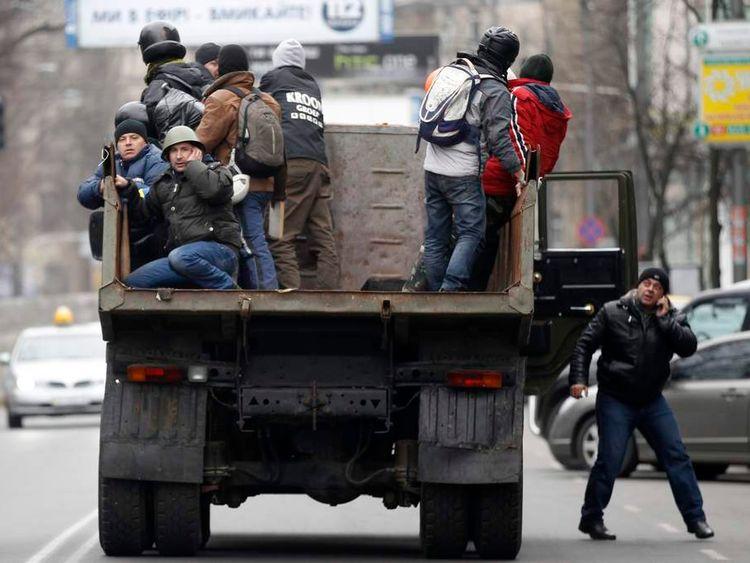 Protesters take control of Kiev