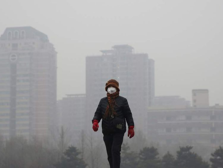 081215 CHINA Beijing Red Alert Over Pollution
