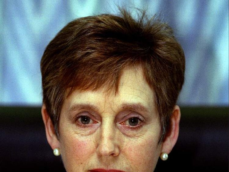 Stella Rimington, Director-General of Britain's MI5 security service..