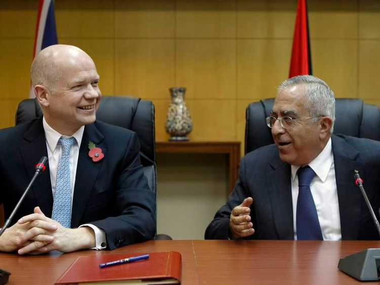 William Hague and Salam Fayyad