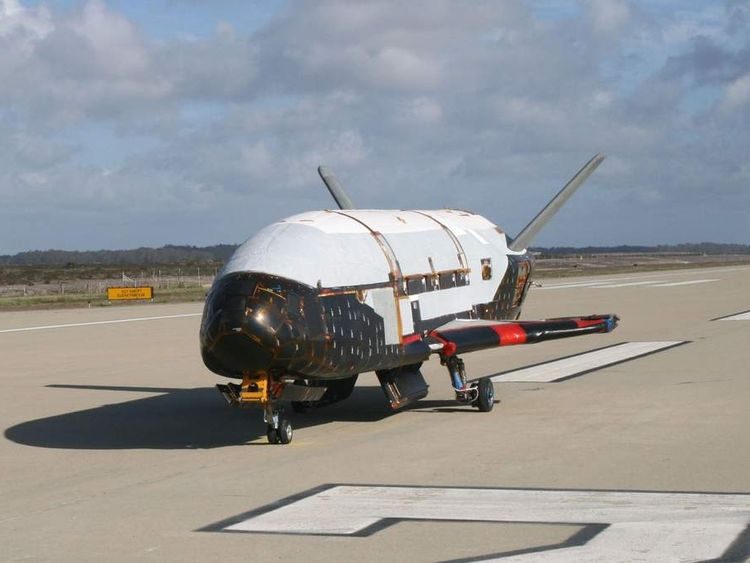 U.S. Air Force handout photo of the X-37B Orbital Test Vehicle in Titusville