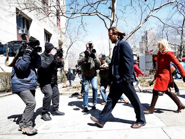 Former Goldman Sachs trader Matthew Taylor departs Manhattan Federal Court in New York