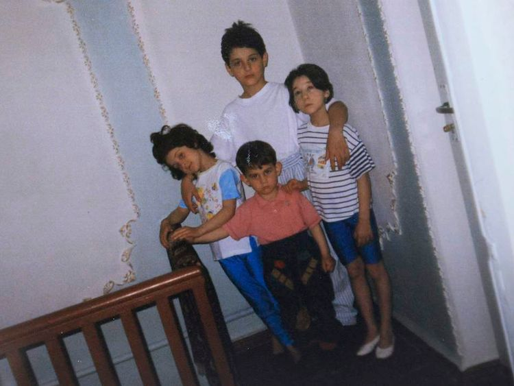 Childhood photos of Dzhokhar and Tamerlan Tsarnaev.