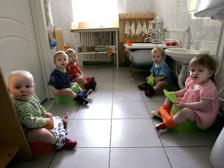 Children in a Russian orphanage