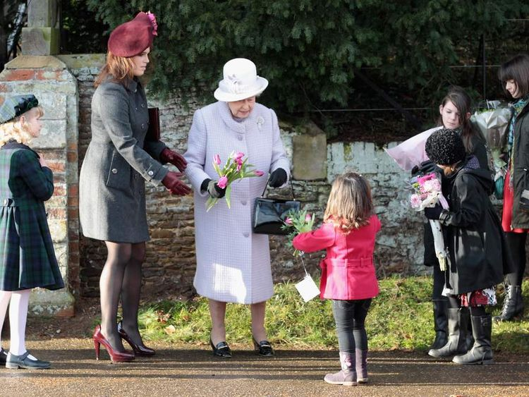 Princess Eugenie and the Queen at Sandringham