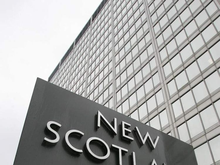 New Scotland Yard Sign Outside Main Building