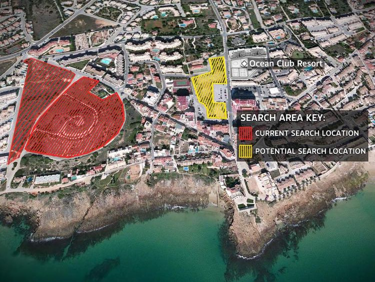 Madeleine McCann potential search areas