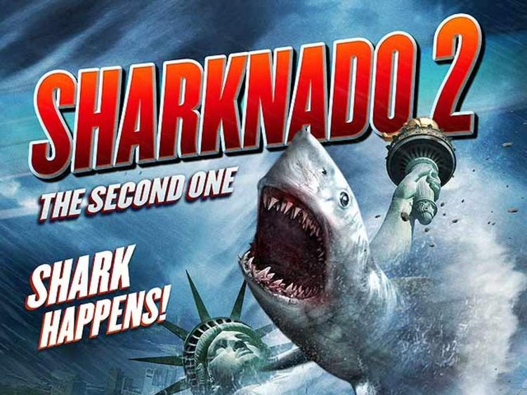 A poster advertising Sharknado 2: The Second One. Pic: Syfy