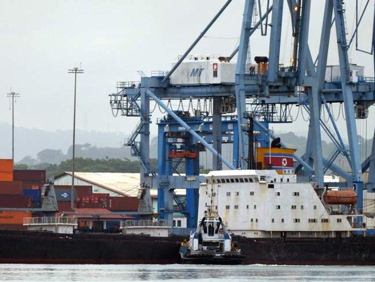 North Korean vessel Chong Chong Gang stopped in Panama