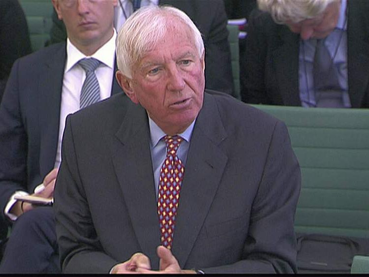 Sir David Walker was questioned by MPs