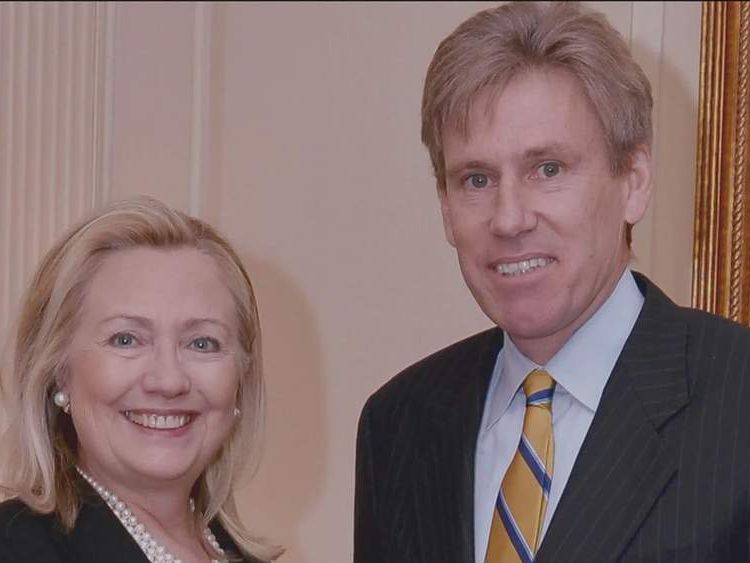 Hillary Clinton and Christopher Stevens