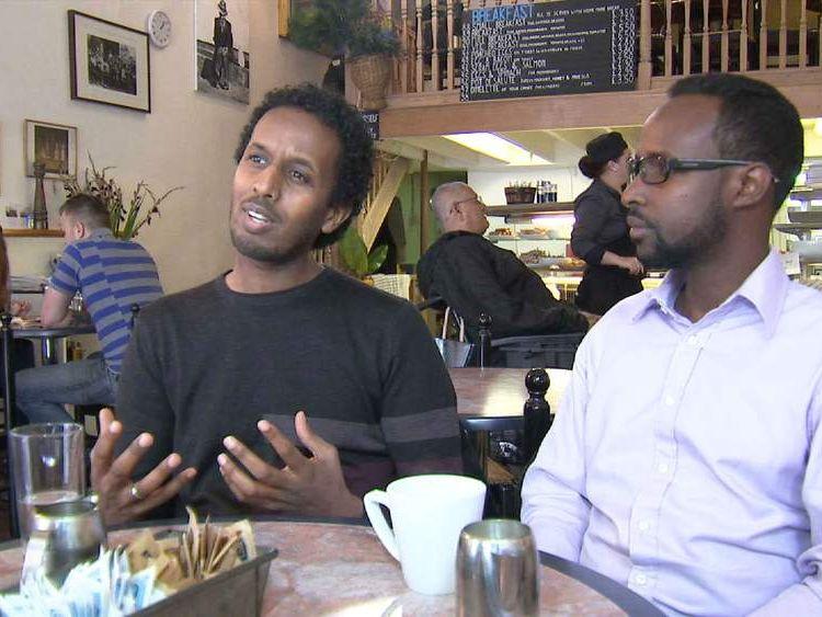 British Somali Mohamed Ibrahim works with Somali teenagers