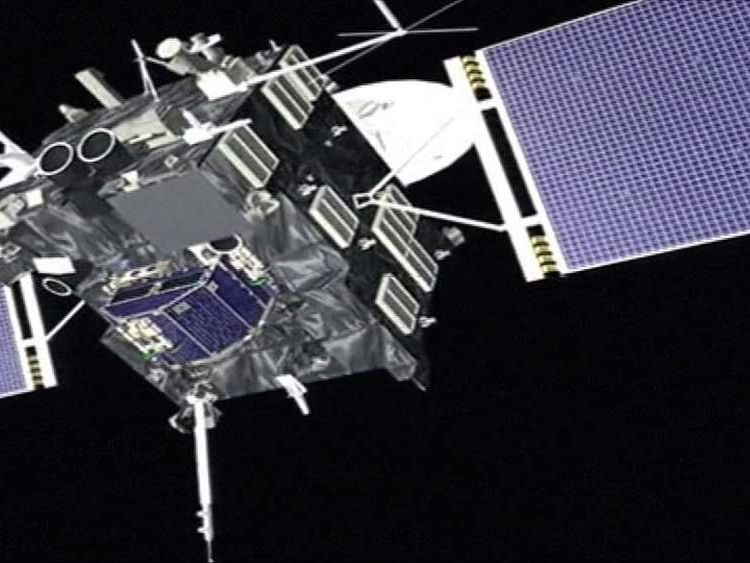 ESA computer animation of Rosetta in space