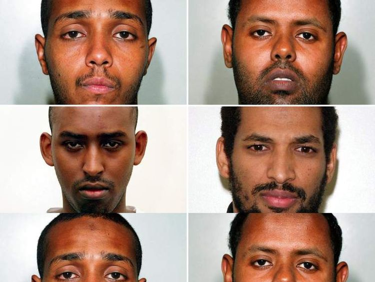 (from the top left clockwise) Ramzi Mohammed, Muktar Said Ibrahim, Hussain Osman and Yassin Omar