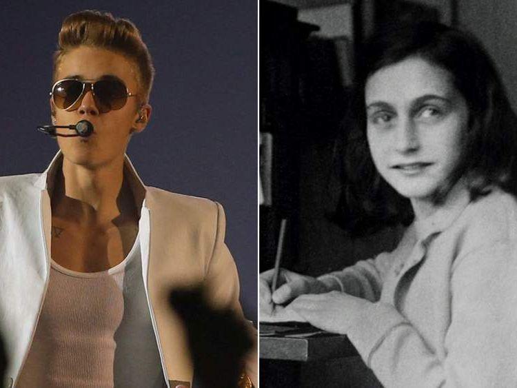 Justin Bieber and Anne Frank