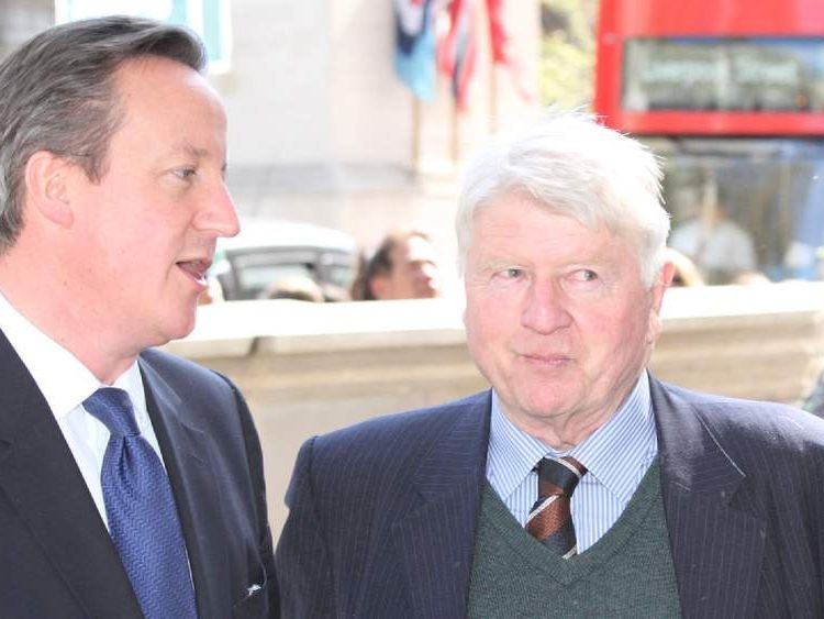 David Cameron and Stanley Johnson