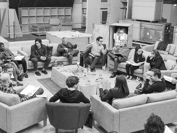 The cast of Star Wars Episode 7