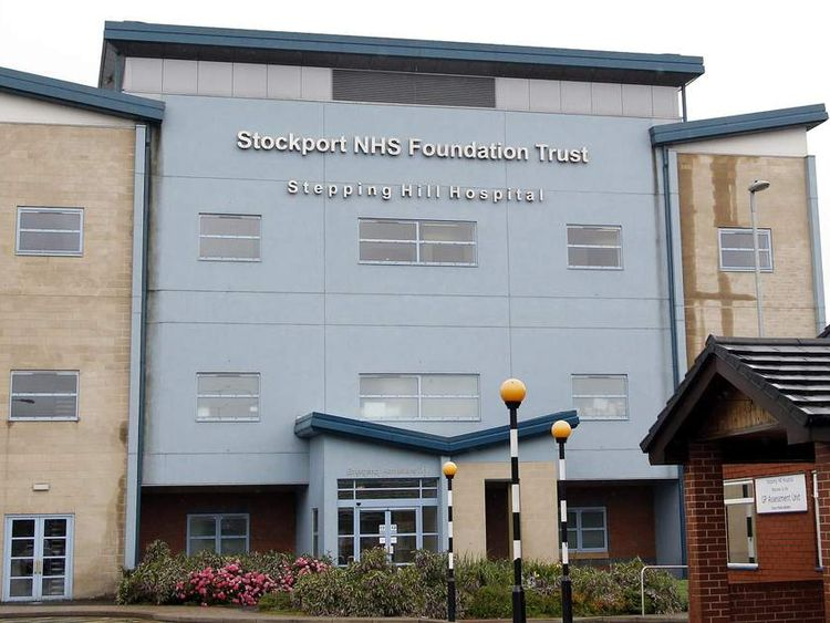 A general view of the Stepping Hill Hospital, in Stockport