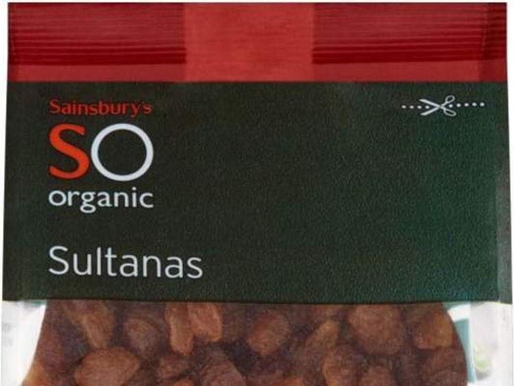 Sainsbury's SO Organic sultanas