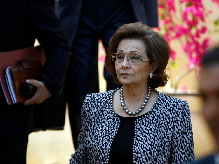 Egypt's former First Lady, Suzanne Mubarak, attending a Stop Human Trafficking Now forum in Luxor, southern Egypt in 2010