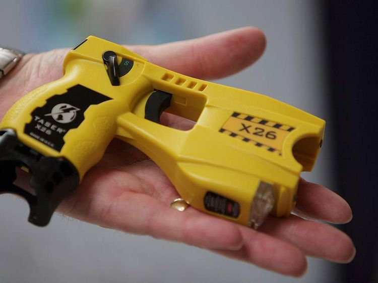 cropped image of x62 taser for touchable still
