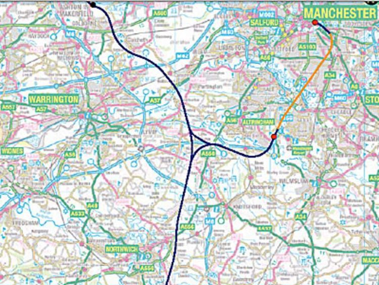 High speed rail link up to Manchester