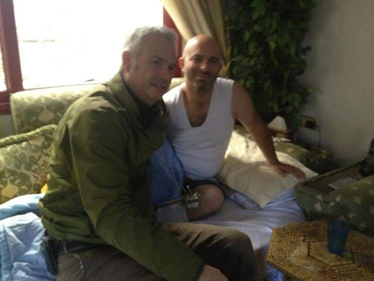 Tim Marshall and Ghias Rizak in Damascus, Syria.