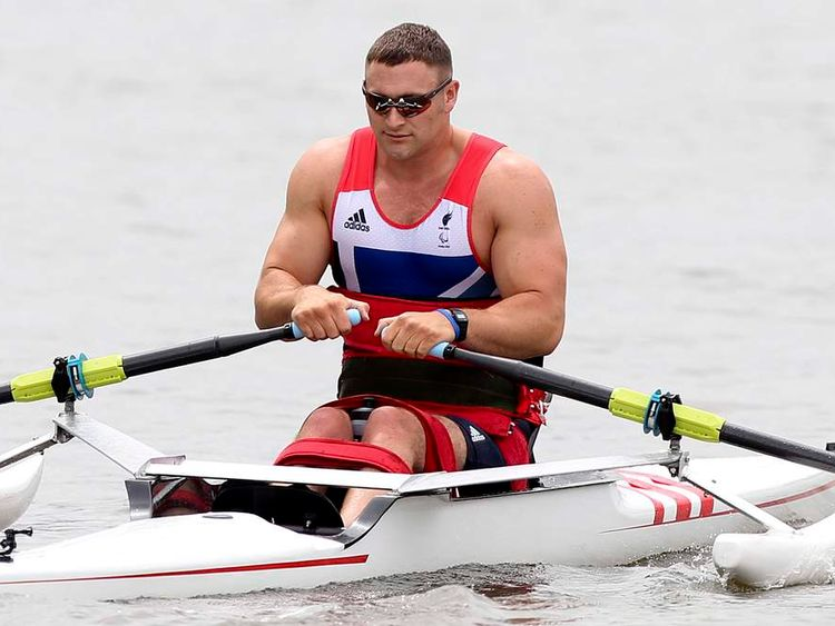 Paralympics GB rower Tom Aggar