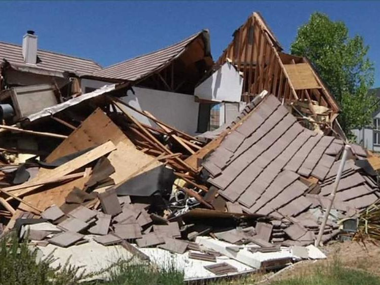 California collapsed house